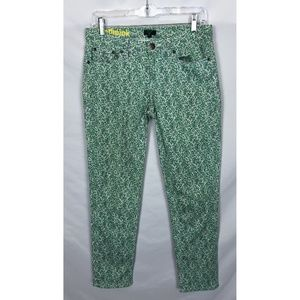 J Crew factory toothpick floral jeans size 27